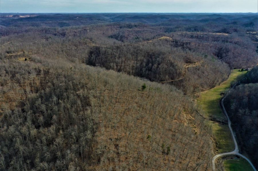 028 great drone shot looking south east down the valley and over the property