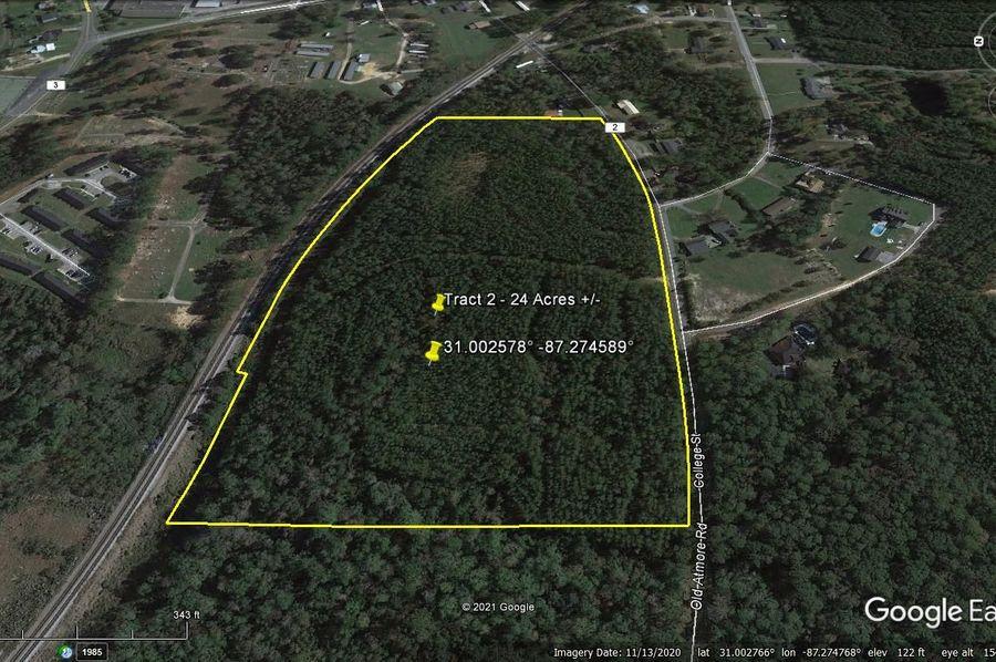Tract 2 aerial 3 approx. 24 acres escambia, al