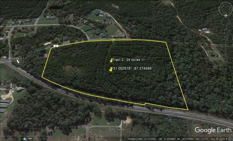 Tract 2 aerial 4 approx. 24 acres escambia, al