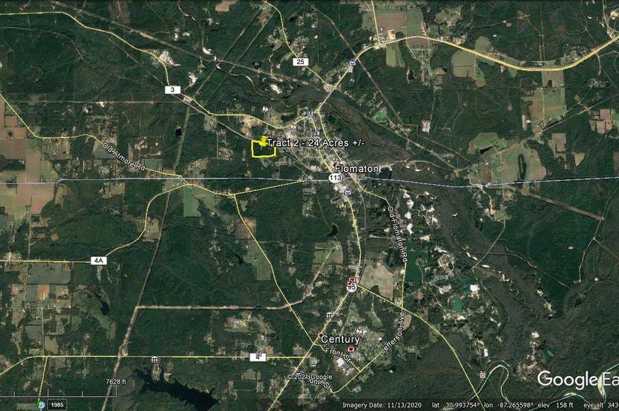 Tract 2 aerial 6 approx. 24 acres escambia, al