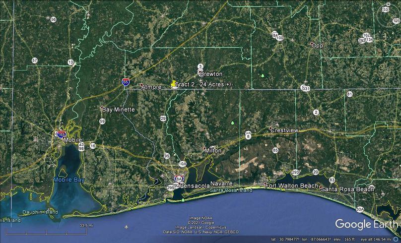 Tract 2 aerial 7 approx. 24 acres escambia, al