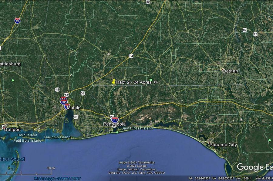Tract 2 aerial 8 approx. 24 acres escambia, al