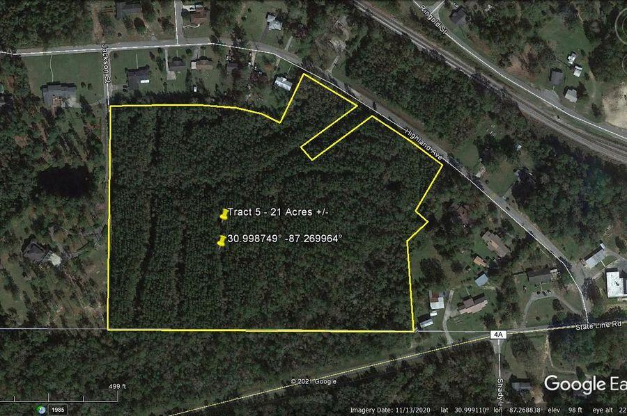 Tract 5 aerial 1 approx. 21 acres escambia, al