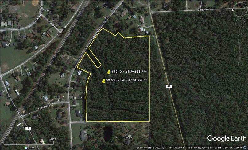 Tract 5 aerial 2 approx. 21 acres escambia, al