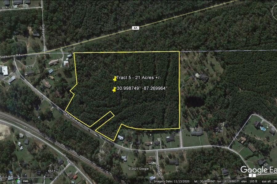 Tract 5 aerial 3 approx. 21 acres escambia, al