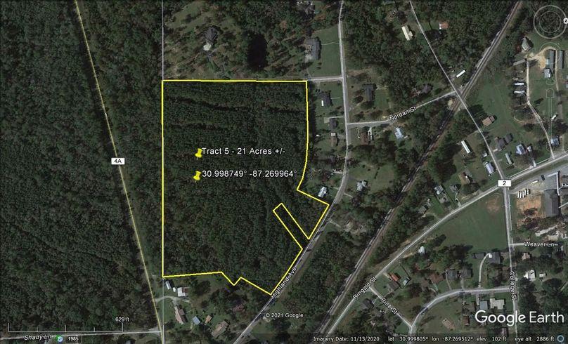 Tract 5 aerial 4 approx. 21 acres escambia, al
