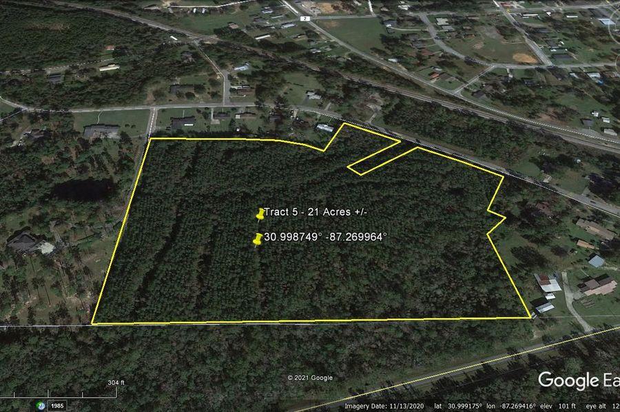Tract 5 aerial 5 approx. 21 acres escambia, al