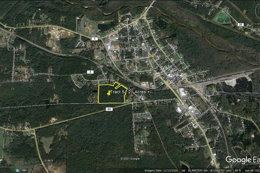 Tract 5 aerial 6 approx. 21 acres escambia, al