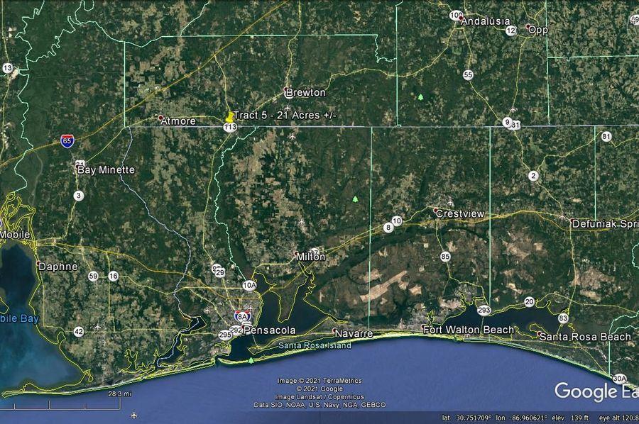 Tract 5 aerial 7 approx. 21 acres escambia, al