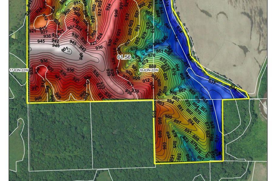 Topography map, hillshade