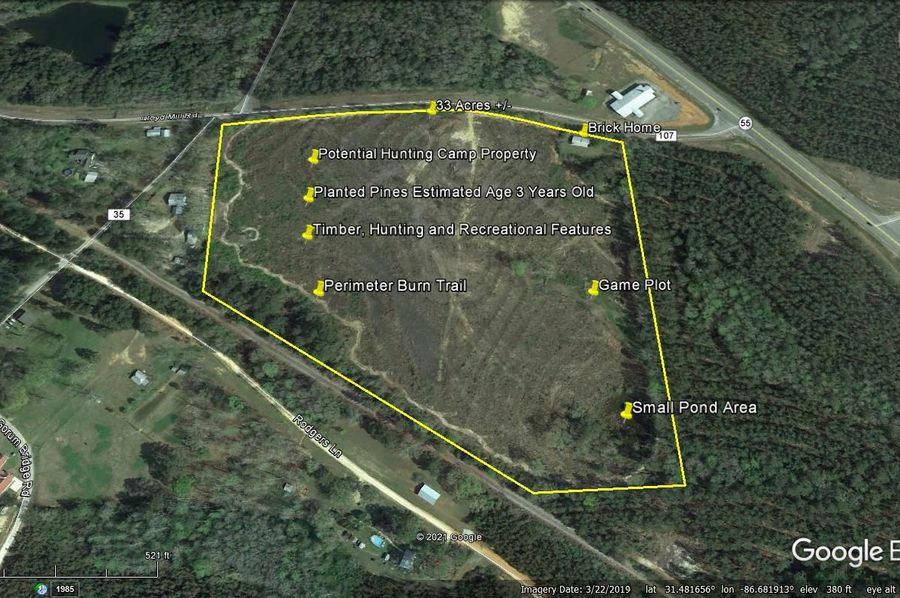 Aerial 6 approx. 33 acres covington county, al