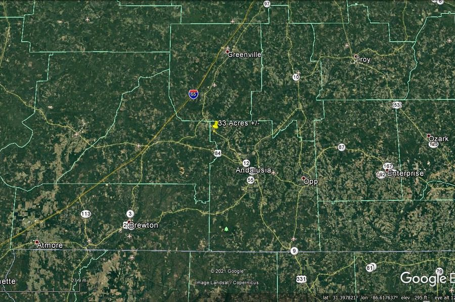 Aerial 8 approx. 33 acres covington county, al