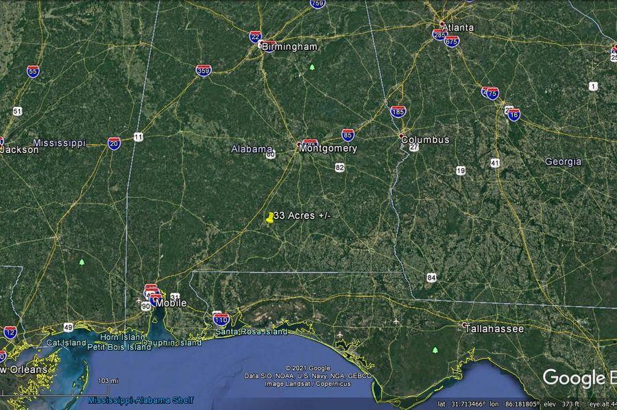 Aerial 9 approx. 33 acres covington county, al