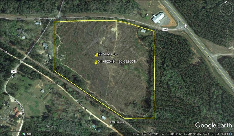 Aerial 1 approx. 33 acres covington county, al