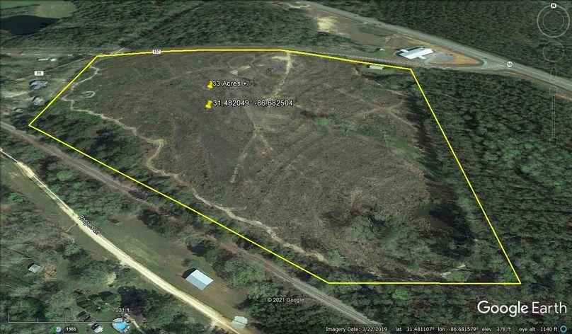 Aerial 2 approx. 33 acres covington county, al