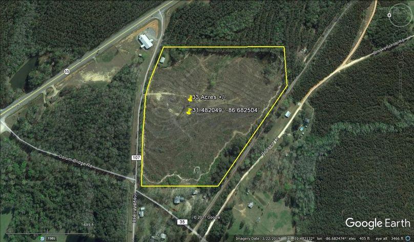 Aerial 3 approx. 33 acres covington county, al