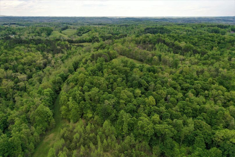 019 aerial drone shot from the west part of the property looking to the east