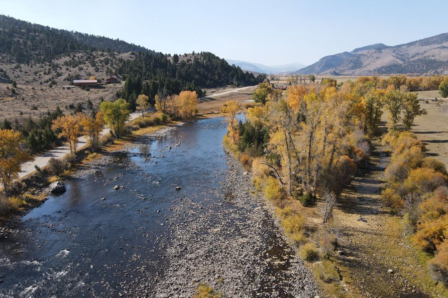 Big Hole river just below Jerry Cr bridge