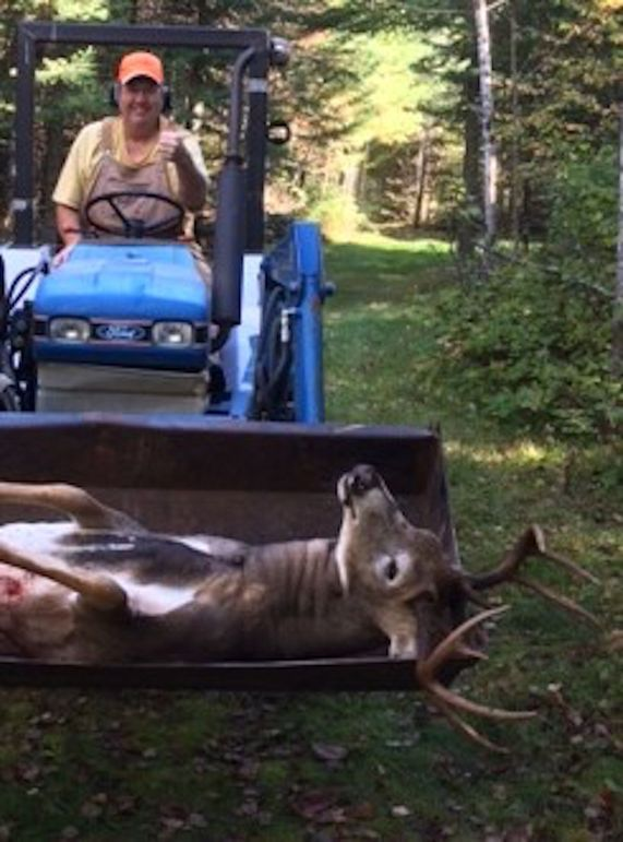 5 donna buck in tractor bucket-2