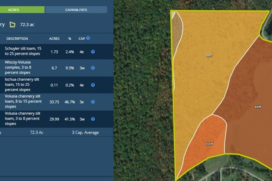 Saunders pond 74 map right soils