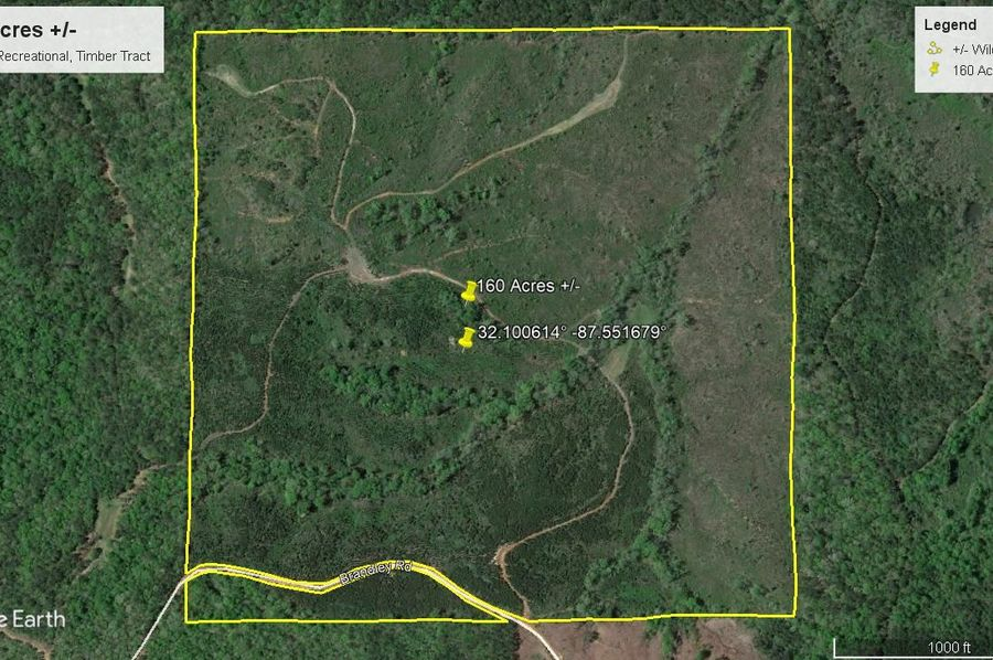 Aerial 4 approx. 160 acres wilcox county, al