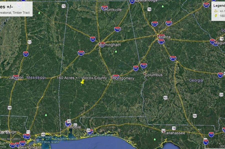 Aerial 11 approx. 160 acres wilcox county, al