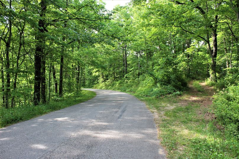 007 the county blacktop road along the southwest boundary of the property