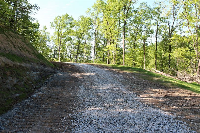 020 the newly constructed access road leading into the property