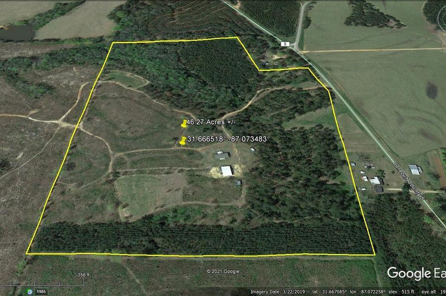 Aerial 5 approx. 46.27 acres conecuh county, al