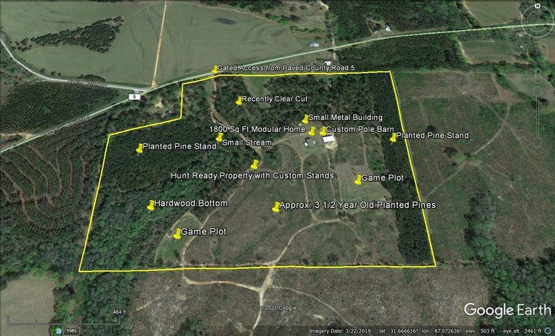 Aerial 6 approx. 46.27 acres conecuh county, al