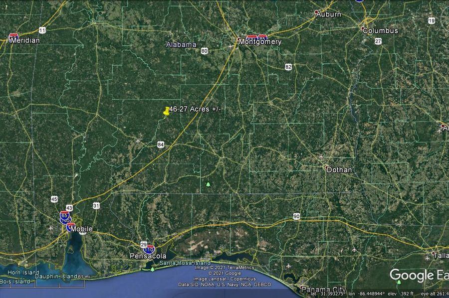 Aerial 8 approx. 46.27 acres conecuh county, al