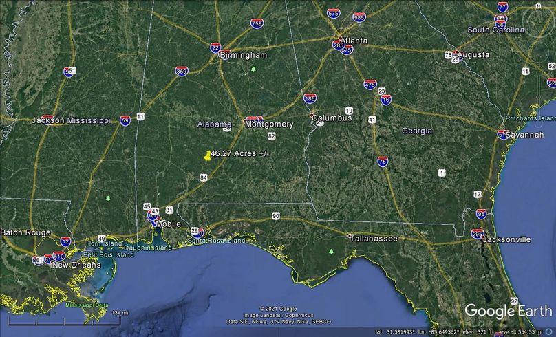 Aerial 9 approx. 46.27 acres conecuh county, al