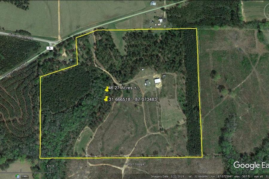 Aerial 1 approx. 46.27 acres conecuh county, al