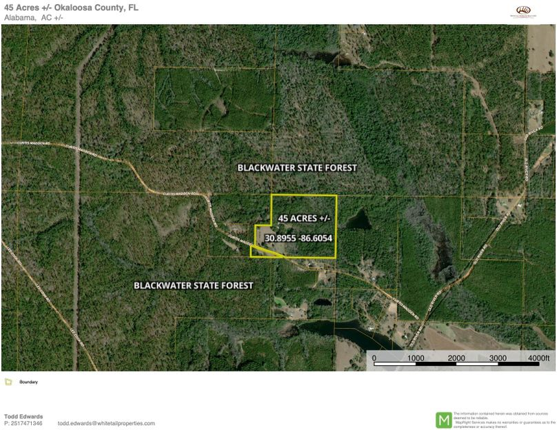 Aerial 2 approx. 45 acres okaloosa county, fl