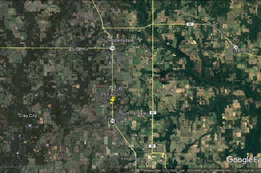Aerial 5 approx. 3.57 acres baldwin county, al
