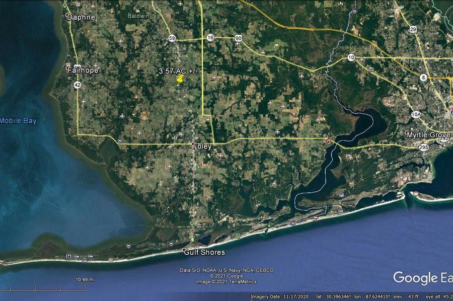 Aerial 6 approx. 3.57 acres baldwin county, al