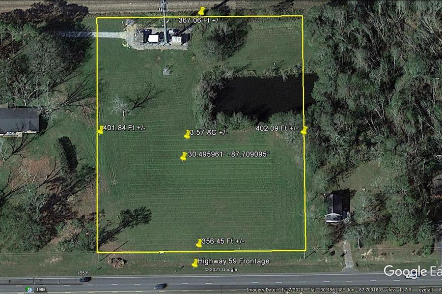 Aerial 1 approx. 3.57 acres baldwin county, al