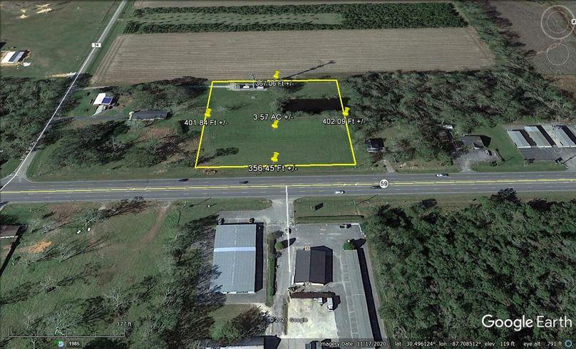 Aerial 2 approx. 3.57 acres baldwin county, al