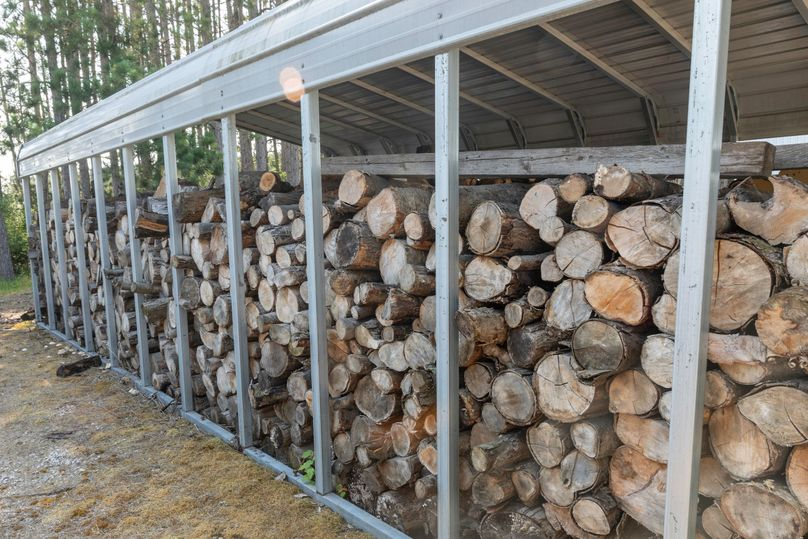 19 covered wood storage