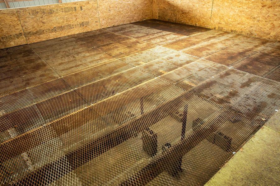 11 dry rack for hops. heat room below