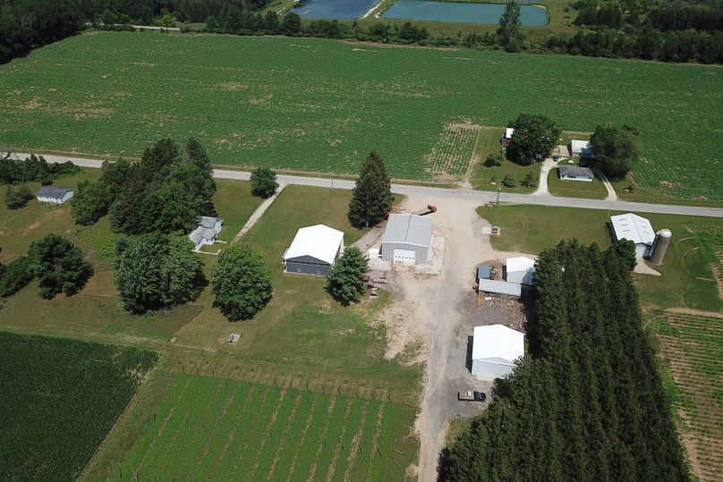 2 farm house, hops building, welding shop, migrant homes and additional outbuildings