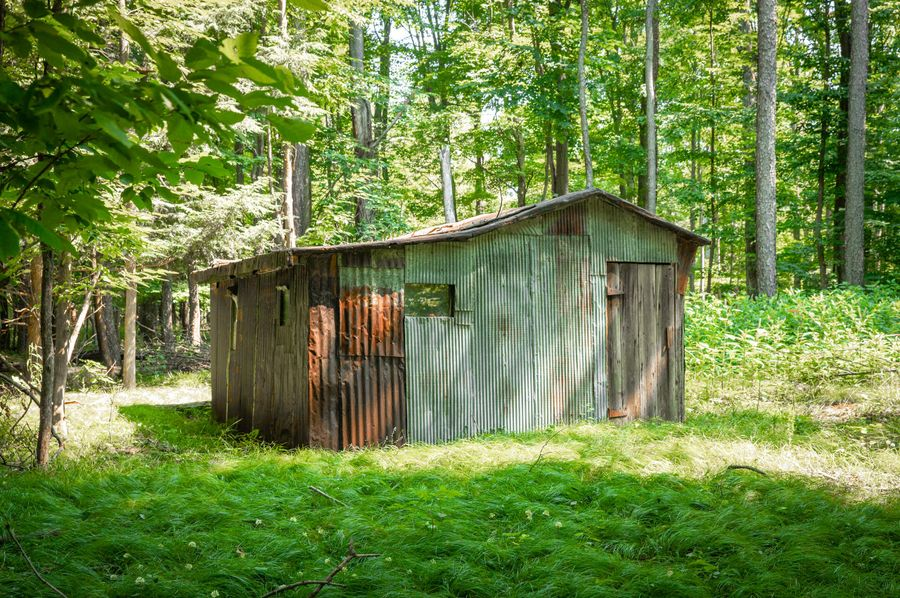 43 old sugar shack on the south end of property