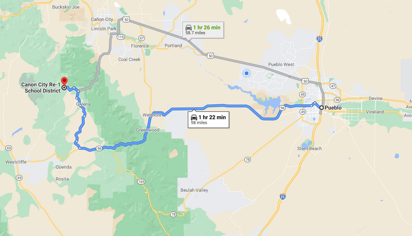 Fremont 36 ortiz directions to pueblo