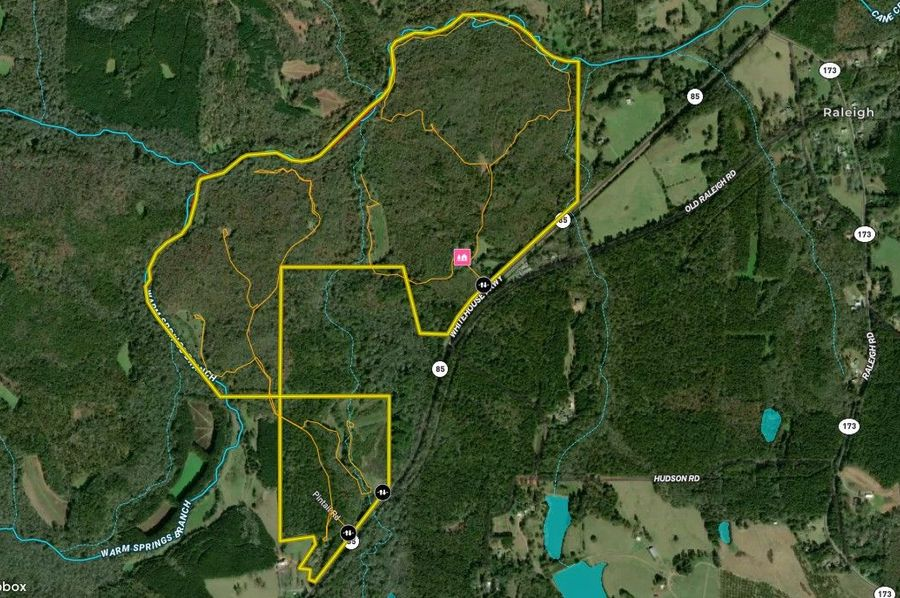 Meriwether county 384.85 acres map