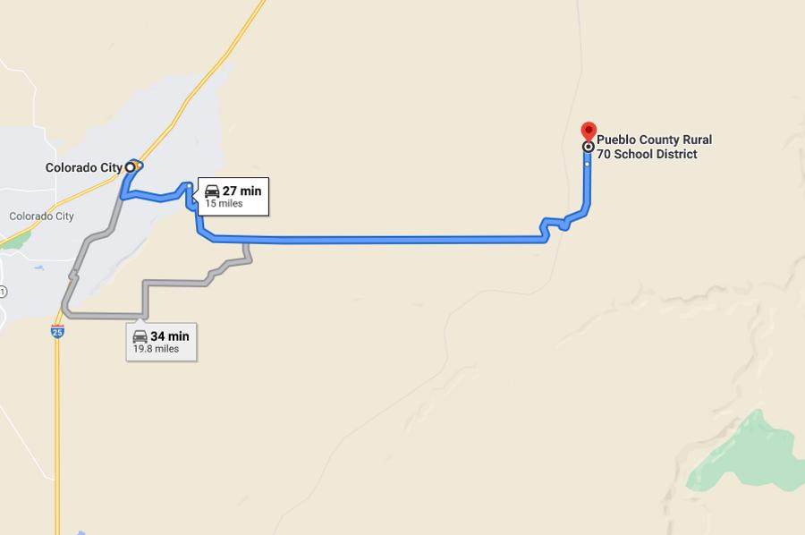 Pueblo 60 rucker directions to colorado city