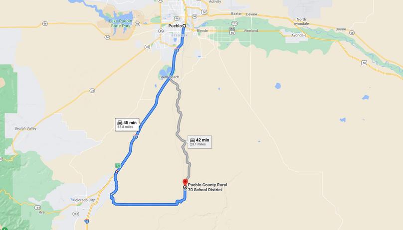 Pueblo 60 rucker directions to pueblo