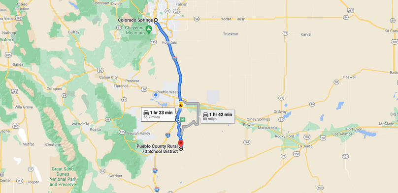 Pueblo 60 rucker directions to springs