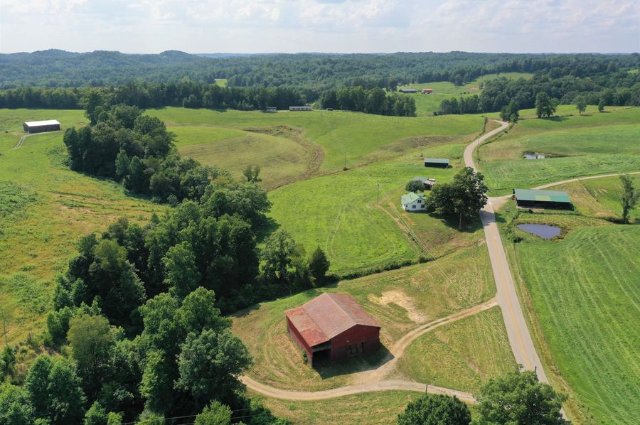 005 aerial drone shot from the east boundary looking west over the farm
