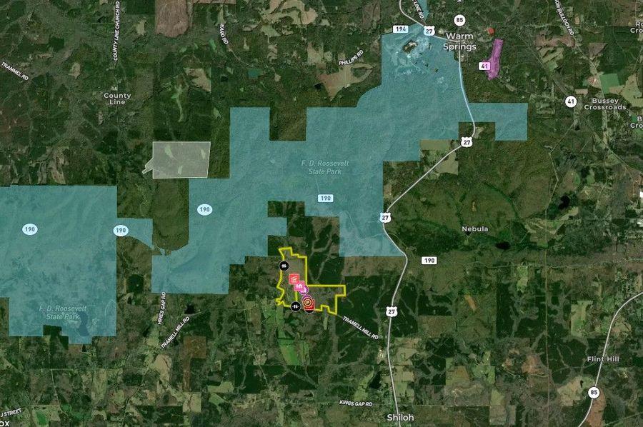 Harris county 274.74 acres map1