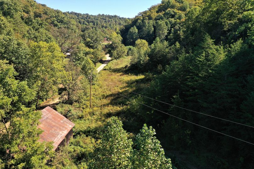 019 aerial drone shot from the barn looking east